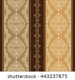vintage vector pattern. hand... | Shutterstock .eps vector #443237875
