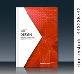 abstract composition. red font... | Shutterstock .eps vector #443238742
