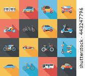 transportation and vehicle... | Shutterstock .eps vector #443247796