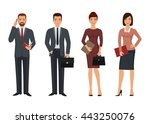 business people characters in... | Shutterstock .eps vector #443250076