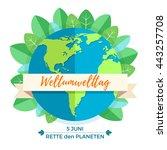 world environment day concept... | Shutterstock . vector #443257708