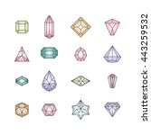 vector illustration of crystal... | Shutterstock .eps vector #443259532