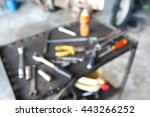 blur table tools engine | Shutterstock . vector #443266252