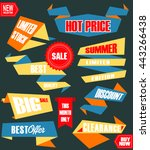 set of retro labels and banners ... | Shutterstock .eps vector #443266438