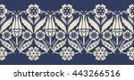 vector seamless  border in... | Shutterstock .eps vector #443266516