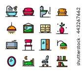 thin line apartment icons set ...