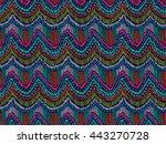 ethnic pattern. tribal doodle... | Shutterstock .eps vector #443270728
