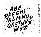 vector hand drawn alphabet.... | Shutterstock .eps vector #443274322