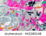 splash color on jean background | Shutterstock . vector #443280148