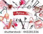cosmetics and fashion... | Shutterstock .eps vector #443281336