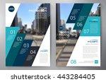 business brochure flyer design... | Shutterstock .eps vector #443284405