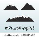 mountain icons set on white...   Shutterstock .eps vector #443286502