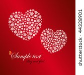 two heart shapes made by... | Shutterstock .eps vector #44328901