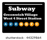 greenwich village west 4 street ... | Shutterstock . vector #44329864