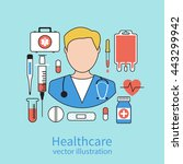 icon doctor. medical concept.... | Shutterstock .eps vector #443299942