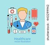 icon doctor. medical concept.... | Shutterstock .eps vector #443299942