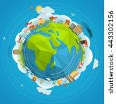 flat design illustration of the ... | Shutterstock .eps vector #443302156