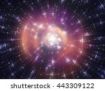 abstract red background.... | Shutterstock . vector #443309122