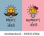 man and woman ideas creative... | Shutterstock .eps vector #443311966