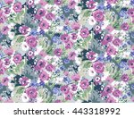 trendy seamless floral pattern... | Shutterstock .eps vector #443318992