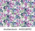trendy seamless floral pattern... | Shutterstock .eps vector #443318992