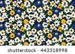 Stock vector trendy seamless floral pattern in vector 443318998