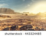 Desert Landscape Of Wadi Rum In ...
