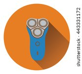 electric shaver icon. flat...