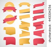 ribbons and labels. vector... | Shutterstock .eps vector #443334256