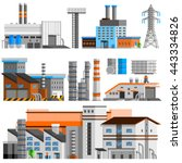industrial buildings orthogonal ... | Shutterstock .eps vector #443334826