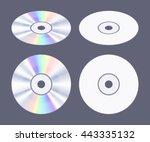 isometric flat cd dvd disk. the ... | Shutterstock .eps vector #443335132