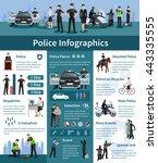 police people flat info... | Shutterstock .eps vector #443335555