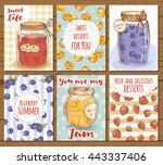 set of bright food cards...