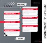 modern business timeline... | Shutterstock .eps vector #443343832