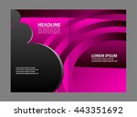 colorful bi fold brochure... | Shutterstock .eps vector #443351692