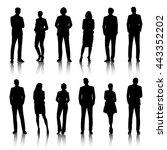 vector ui illustration business ... | Shutterstock .eps vector #443352202