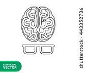 intelligence line icon | Shutterstock .eps vector #443352736