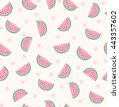Seamless Watermelon Pattern....