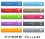 set of settings glossy color... | Shutterstock .eps vector #443361166
