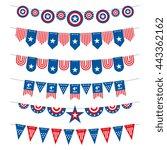 patriotic bunting american... | Shutterstock .eps vector #443362162
