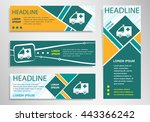 ambulance icon on horizontal... | Shutterstock .eps vector #443366242