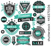 turquoise badges  ribbons and...