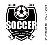 soccer tournament vector icon | Shutterstock .eps vector #443371495