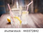 cold fresh mineral water in... | Shutterstock . vector #443372842