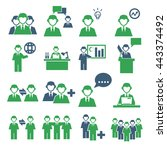 employee  employees icon set | Shutterstock .eps vector #443374492