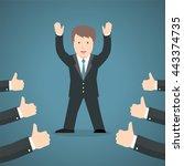 successful businessman... | Shutterstock .eps vector #443374735