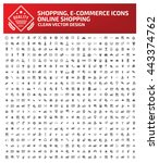 big icon shopping e commerce... | Shutterstock .eps vector #443374762
