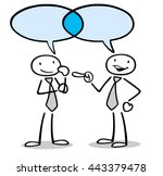 communication and dialogue... | Shutterstock . vector #443379478