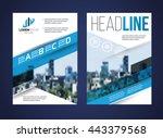 vector set of art flyers...   Shutterstock .eps vector #443379568