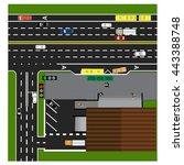 plot road  highway  street ... | Shutterstock . vector #443388748